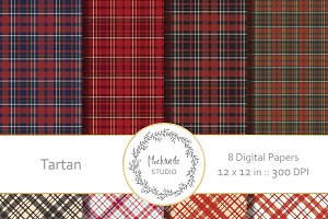 Tartan Plaid digital paper