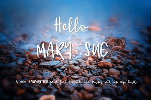 Hello Mary Sue - Handwritten Font