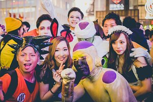 Cosplay Halloween in Osaka,Japan.