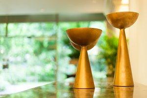 Vase candle.