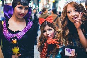 Cosplay Halloween in Osaka,Japan.