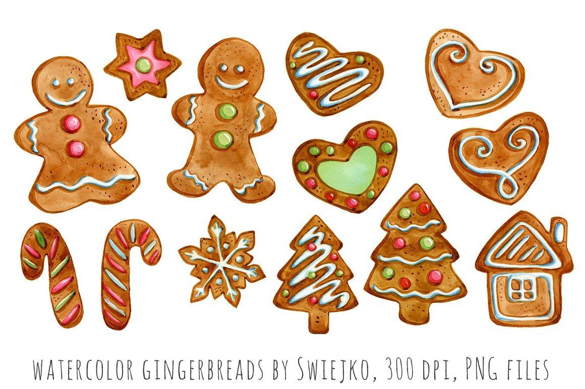 Gingerbreads, Christmas ~ Illustrations ~ Creative Market