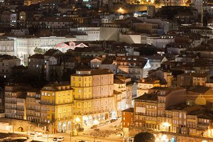 City of Porto in Portugal at Night