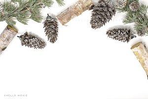 Winter Christmas Flat Lay