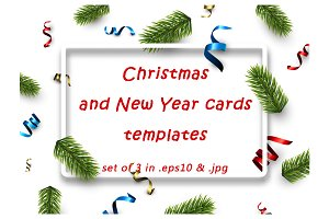 christmas new year cards templates