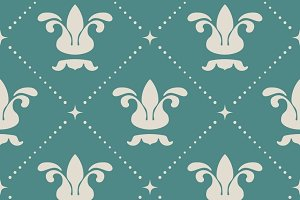 Floral royal vintage background