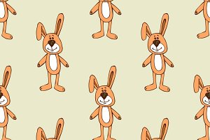 Cute bunny pattern seamless