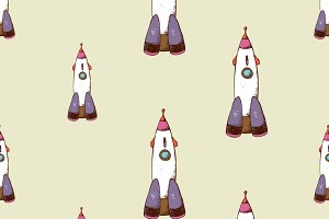 Rocket seamless pattern
