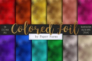 Colored foil textures