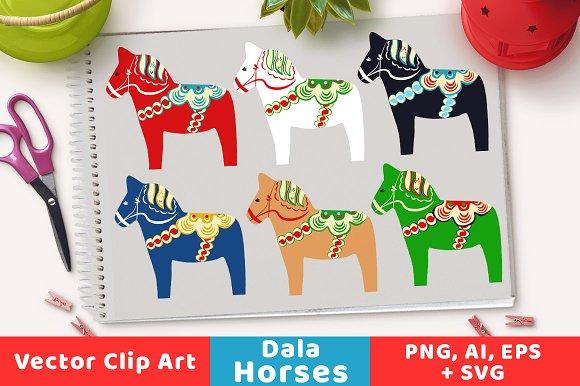 Scandinavian Dala Horse Clipart
