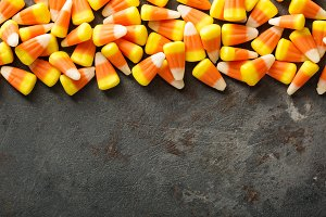 Candy corn Halloween background