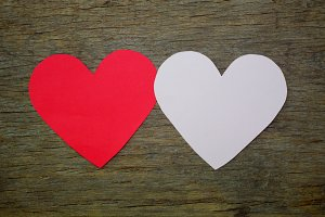 Heart shape papers.. you and me..