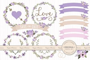 Wedding Floral Clipart & Vectors