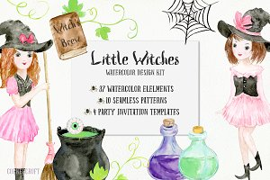 Little Witches Design Kit Watercolor