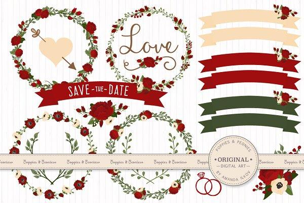 Christmas Floral Clipart & Vectors