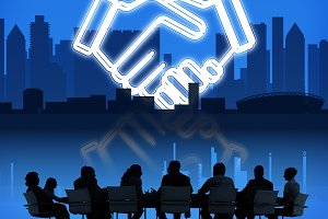 Deal Business Work Cooperation