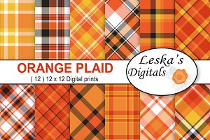 Fall Autumn Plaid Digital Paper