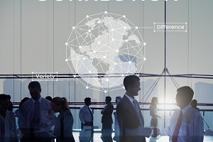 Network graphic overlay banner