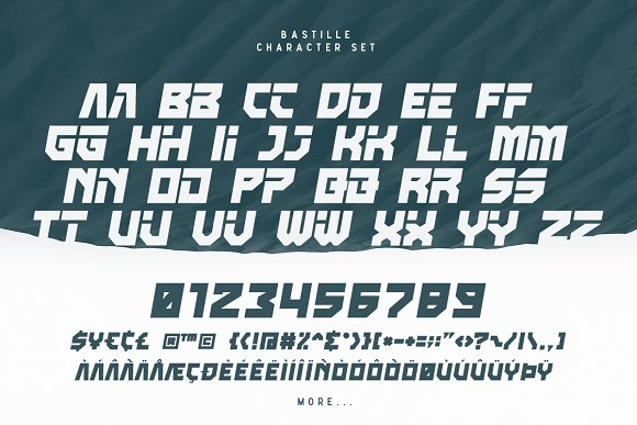 Bastille in Display Fonts - product preview 4