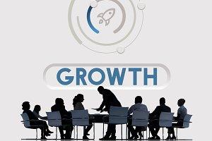 Start Up Business Rocket Ship
