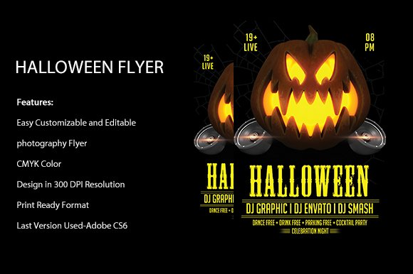 Halloween Party Flyer Template Flyer Templates Creative Market