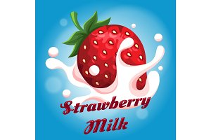 Strawberry milk emblem