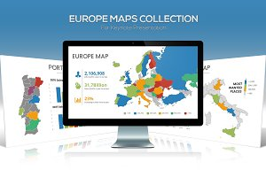 Europe Maps Collection for Keynote