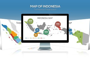 Map of Indonesia For Keynote