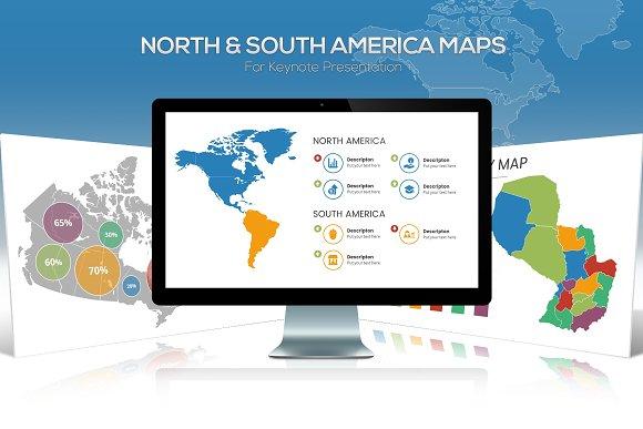 America Maps For Keynote
