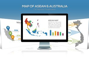 ASEAN & Australia Maps For Keynote