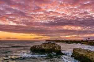 Sunset atNatural Bridges State Beach
