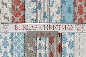 Christmas burlap backgrounds