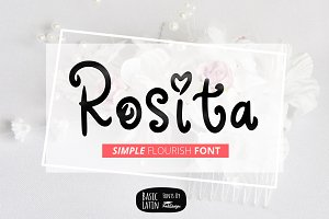 Rosita Flourish Font