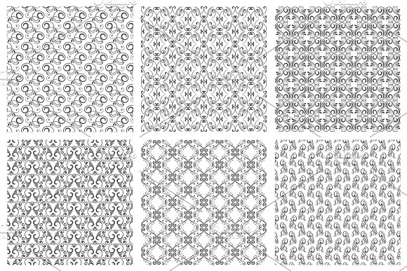 Damask Oriental Seamless Pattern Set