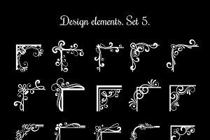 Vintage calligraphic frame corners