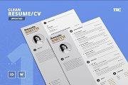 Clean Resume/Cv Template Volume 1