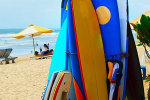 Surfboards and funboards rental,Bali