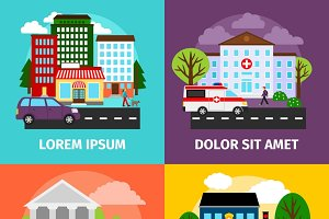 City concepts vector illustration