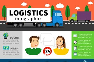 Logistics infographics illustration
