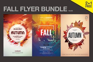 SALE% - Fall Flyer Bundle Vol.02