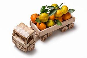 Mandarins in truck.