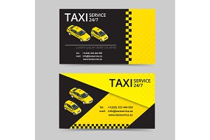 Taxi card for taxi-drivers. Taxi service. Vector business card template. Company, brand, branding, identity, logotype. Business card template with texture.