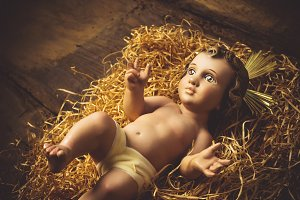 Baby Jesus Christmas card.
