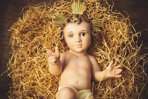Christmas greeting card Baby Jesus
