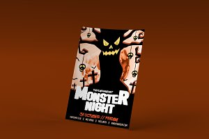 Monster Night Halloween PSD Template
