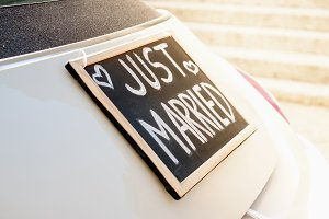Just married sign