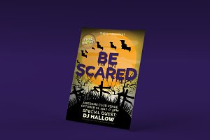 Be Scared Halloween Photoshop Flyer