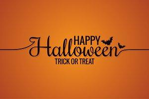 Happy Halloween Line Vintage