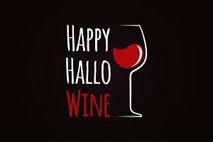 Happy Halloween Wine Concept
