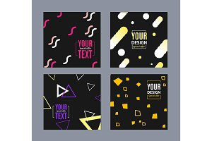 Poster or Flyer Template Set.